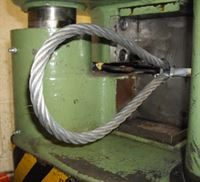 wire rope press web