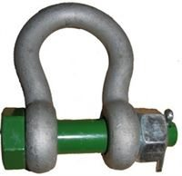 Green Safety Pin Alloy Bow Shackle
