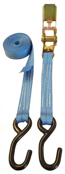 800Kg Ratchet Strap with S Hook, 5 Metres